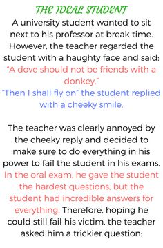 The Ideal Student - Funny Story !!!