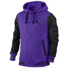 Jordan Varsity Hoodie - Men's - Basketball - Clothing - Court Purple/Black/Black