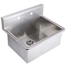 Fabricated One Compartment Sink, Left Drainboard, 16/304 Stainless Steel, 18  X 18 Bowl | Factory: Bathroom | Pinterest | Discover Best Ideas About  Stainless ...