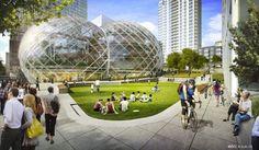 NBBJ propone bio-domos para las #oficinas centrales de #Amazon en Seattle