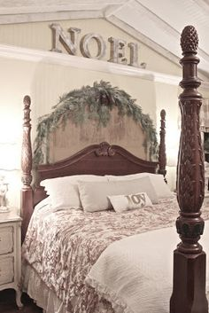 FRENCH COUNTRY COTTAGE: It's Beginning to Look a lot Like Christmas...  Just a thought create an A frame ceiling in our bedroom with the extra height.