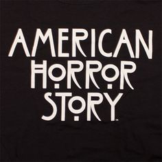 This American Horror Story t-shirt is ideal for fans of the FX TV show. The front of the tee displays the American Horror Story logo. Fx Tv Shows, Movies And Tv Shows, New American Horror Story, She Wants Revenge, Tv Show Logos, Film Logo, Me Equivoco, Popular Tv Series, Pop Vinyl Figures