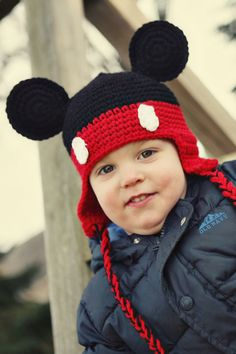 Customizable Mickey Mouse crochet hat $20
