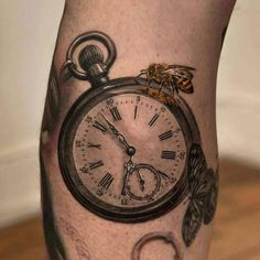7 Latest Pocket Watch Tattoo Design Ideas