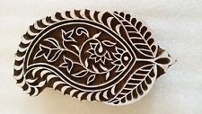 RARE PAISLEY TRADITIONAL WOODEN BLOCK SEAL PRINT STAMP DESIGN FINE CARVING INDIA