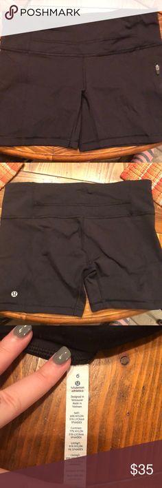 Lulu Lemon Spandex Shorts Lulu Lemon Spandex Shorts with one zip up pocket lululemon athletica Shorts