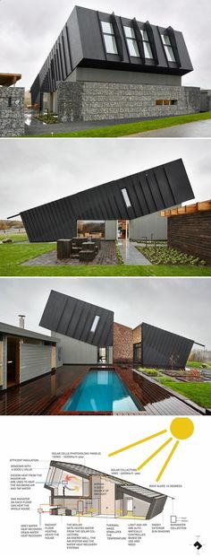 Container House - I have a love for architecture and I love to learn about green houses and new projects as this. ZEB Pilot House - Pilot Project / Snøhetta Who Else Wants Simple Step-By-Step Plans To Design And Build A Container Home From Scratch? Building A Container Home, Container Buildings, Container Architecture, Container House Plans, Architecture Durable, Green Architecture, Architecture Design, Landscape Architecture, Drawing Architecture