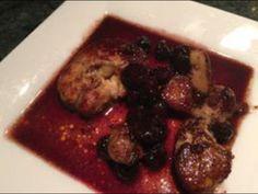foie gras poêlé aux bleuets