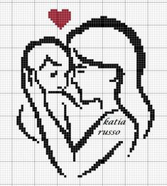 This Pin was discovered by Cri Cross Stitch Heart, Beaded Cross Stitch, Modern Cross Stitch, Cross Stitch Embroidery, Cross Stitch Patterns, Baby Motiv, Modele Pixel Art, Pixel Pattern, Bobble Stitch