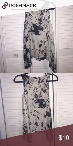 splatter tank 100% rayon splatter tank with lace at the bottom Tops Tank Tops