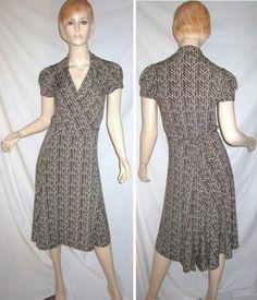 BCBG MAXAZRIA Stretch Chevron Geometric Print Cap Sleeve Wrap Dress M...see more details at this link - http://stores.shop.ebay.com/vintagefluxed