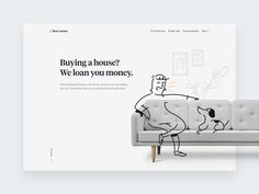 Real estate Hero designed by Filipe for Significa. Connect with them on Dribbble; Minimal Web Design, Modern Graphic Design, Website Design Layout, Layout Design, Design Design, Design Elements, Design Ideas, Website Illustration, People Illustration