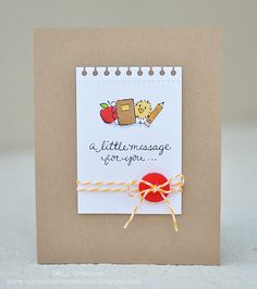 DeNami Back to School Chickie Message card by Deb
