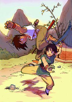 Chichi trains with Goku - Dragon Ball Females Fan Art (35011292) - Fanpop