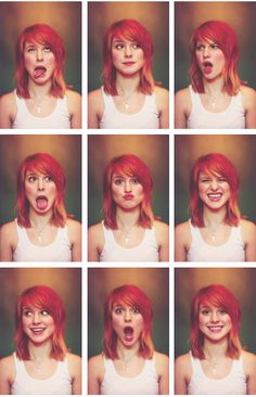 Hayley Williams....the very top left is definitely my favorite:)