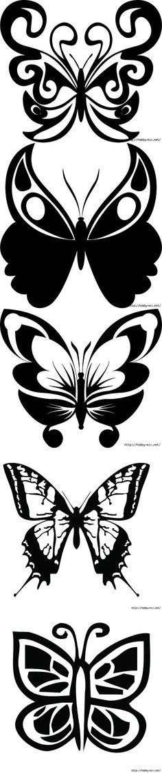 Красивые бабочки. Трафарет. | <i>силуэт для декупажа</i> трафареты, шаблоны | Постила