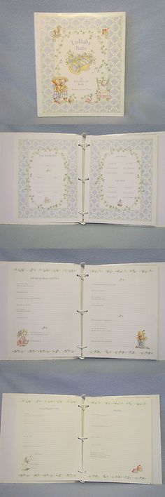 Keepsakes and Baby Announcements 117388: Cr Gibson Lullaby Baby Memory Record Book Binder Keepsake Picture Photo Album-Ne -> BUY IT NOW ONLY: $45 on eBay!