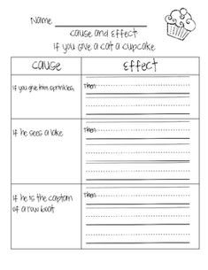 cause and effect writing activities