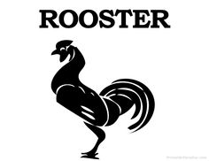 Printable Rooster Silhouette - Print Free Rooster Silhouette