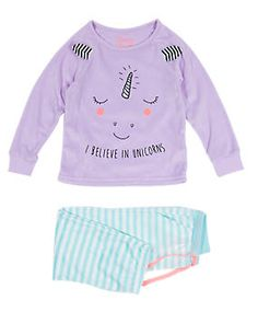 Unicorn Face Print Stay Soft Pyjamas (1-8 Years)