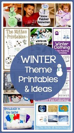 Winter Theme Printables and Ideas ~ snowmen, penguins, crafts, free printables, coloring pages and more! Winter Activities, Toddler Activities, Preschool Winter, Preschool Christmas, Toddler Fun, Winter Fun, Winter Theme, Winter Magic, Winter Ideas
