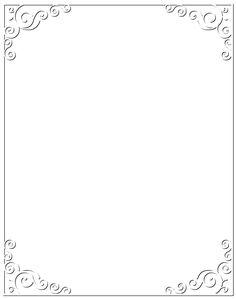 White Border Frame PNG Clip Art Image