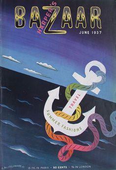 1937 'Harper's Bazaar' June illustrated by A. M. Cassandre