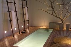 Japanese Bathroom Design Japanese influenced all Asian interior styles. Asian interior design ideas are a blend of traditional material and natural. Asian Bathroom, Japanese Bathroom, Bathroom Spa, Bathroom Interior, Bathroom Ideas, Relaxing Bathroom, Japanese Spa, Warm Bathroom, Master Bathroom