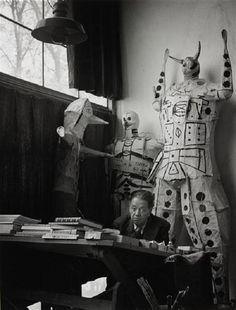 Gisèle Freund - Diego Rivera dans son atelier, Mexico City, 1948