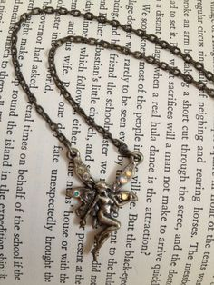 VNTG 90s Fairy Necklace by thatVideoVAMPvintage on Etsy, $11.00