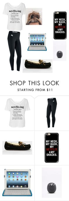 """""""I DONT CARE WHAT ANYONE SAYS I'M IN A RELATIONSHIP WITH NETFLIX"""" by minionlover710 on Polyvore featuring NIKE, Ugg, Casetify, Piquadro and Eos"""