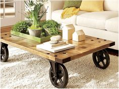 Coffee table is one's favorite to start the day. Learn how to decorate your coffee table design like a pro to give the most of your coffee time experience. Coffee Table Design, Unique Coffee Table, Rustic Coffee Tables, Cool Coffee Tables, Coffe Table, Decorating Coffee Tables, Rustic Table, Rustic Farmhouse, Rustic Wood