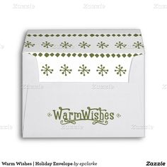 Warm Wishes | Holiday Envelope