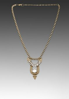 Lionette by Noa Sade Katelyn Necklace in Metallic Gold TtD3VrfgC