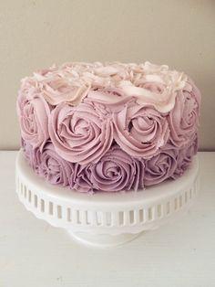 Red Velvet Ombre Rose Cake | Blessings + Good Food