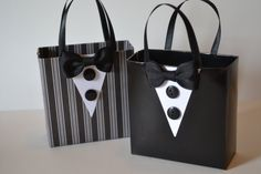 Tuxedo party favor bags great for batchelor parties by steppnout, $3.00