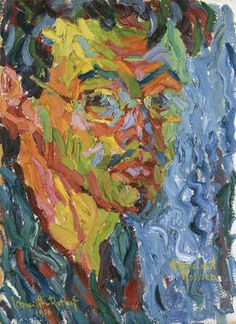 Painting Exhibition: Vincent van Gogh and Expressionism : Karl Schmidt-Rottluff: Self-Portrait Ernst Ludwig Kirchner, Wassily Kandinsky, Emil Nolde, Visual Elements Of Art, Expressionist Portraits, Ludwig Meidner, Karl Schmidt Rottluff, George Grosz, Franz Marc