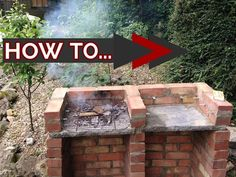 Brick Garden Barbeque - Easy DIY BBQ build - step guide - YouTube