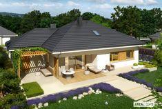 ovo je kuća mojih snova veli diša nebi više na posel došla :D Home Design Diy, Home Garden Design, Modern House Design, Duplex House Plans, New House Plans, Bungalows, Single Storey House Plans, 4 Bedroom House Designs, Steel Framing