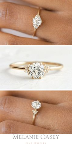This shimmering beauty will make a graceful addition to her ring finger. Our unique moissanite engagement ring set is handmade in expert detail. This branch yellow gold bridal ring set features a luxurious moissanite engagement ring with leaf and flor Gold Diamond Wedding Band, Diamond Engagement Rings, Timeless Engagement Ring, Antique Engagement Rings, Engagement Ring Settings, Looks Pinterest, Rose Gold Morganite Ring, Pink Tourmaline Ring, The Bling Ring