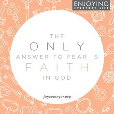 Allow God to give you the courage you need to face your fears!