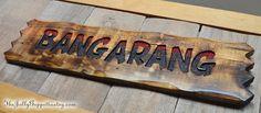 BANGARANG Sign, HOOK Sign, Peter Pan Sign, Captain Hook, Neverland Decor, Neverland Pirates, Lost Boys Rufio