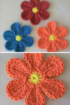 [Free Patterns] Adorable And Groovy Crochet Flowers That Look Beautiful Every Day
