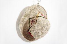 限量手工編織棉麻帽 / 編織帽 - 幾何紗麗線