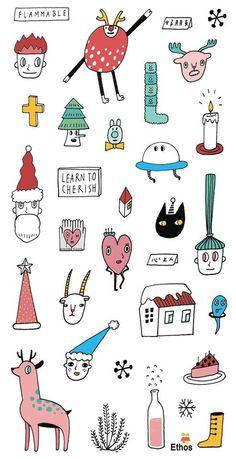 藝舍卡片 Ethos card - 聖誕透明貼紙(包大山)16004