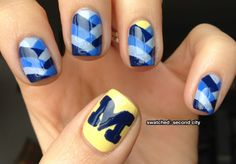 #goblue nail art for the #finalfour - from swatched: second city