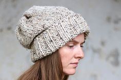WISDOM - Slouchy Hat Knitting Pattern - Woman's Knit Hat