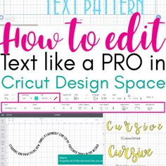 How to Edit Text in Cricut Design Space Like a Pro ~ Daydream Into Reality Cricut Air 2, Cricut Mat, Cricut Fonts, Cricut Vinyl, Cricut Access, How To Use Cricut, Cricut Tutorials, Cricut Ideas, Edit Text