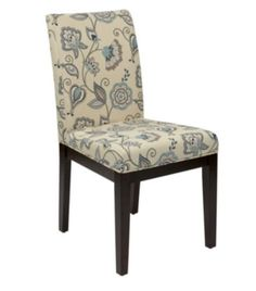 Traditional Side Chair Multi-Color Floral Upholstery Living Room Furniture New
