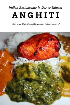 With a large Asian community of Indian descent, Indian restaurants abound in Dar es Salaam. My favorite is Anghiti on Bagamoyo Road. Dar Es Salaam, Restaurants, Community, Asian, Chicken, My Favorite Things, Food, Essen, Restaurant